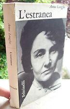 1963 LETTERATURA EBRAICA ANNA LANGFUS 'L'ESTRANEA' DOPO I CAMPI DI CONCENTRAMENT