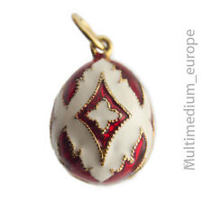 Emaille Anhänger Ei Faberge inspriert vergoldet pendant egg Charms