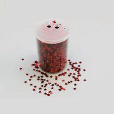 PROMOTION:  pot de Paillettes étoile ROUGE 10MM en salière neuf