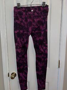 Lululemon Wunder Under Pink Tie Dye Leggings Size 8