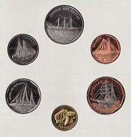 CAPE CABO VERDE - OFFICIAL SET 6 DIF UNC COINS : 1 - 100 ESCUDOS 1994 YEAR SHIPS
