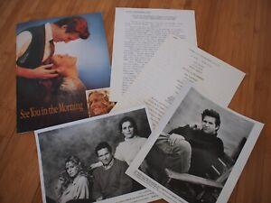 SEE YOU IN THE MORNING 1989 Press Kit Farrah Fawcett Jeff Bridges