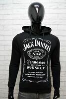 Jack Daniels Uomo Taglia M Maglione Felpa Sweater Cardigan Pullover Nero Cotone
