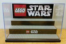 LEGO STAR WARS Minifigure chrome custom display case diorama-CASE ONLY