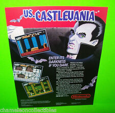 Nintendo VS. CASTLEVANIA Original 1987 NOS Video Arcade Game Promo Sales Flyer