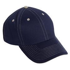 Wholesale Lot 1 Dozen 12 Blank Adjustable Golf Baseball Hats Navy Blue/Khaki
