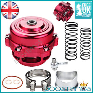 UNIVERSAL 50MM RED V BAND TURBO SUPER CHARGED BLOW OFF BOV DUMP VALVE KIT