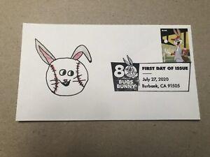 2020 Bugs Bunny FDC AJI Cachets Drawn Art Print #__/6 Baseball Youth Junior