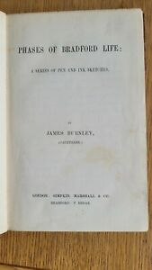 PHASES OF BRADFORD LIFE - A Series of Pen & Ink Sketches - James Burnley C19th