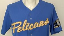 Myrtle Beach Pelicans Blue Jersey MiLB Minor Carolina League Baseball Mens M