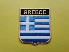 WORLDWIDE FREEPOST COUNTRY SHIELD FLAG SEW & IRON ON PATCH - GREECE