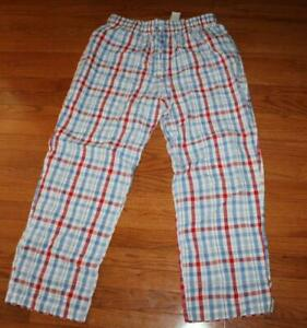NEW NWT Mens Brooks Brothers Drawstring Seersucker Pajama Lounge Pants Large *5G