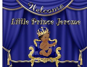 Little Ethnic Prince edible birthday baby shower Cake topper picture paper sugar