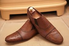 Rare Gucci Men's Tan Lizard and Ostrich Skin Loafers Shoes Size UK 9