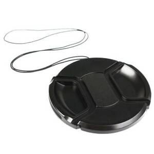 52mm Front Lens Caps Center Snap Lens Cap Replacement For DSLR Camera Plastic