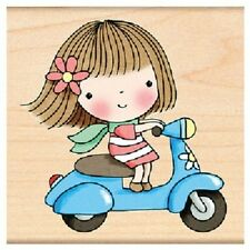 PENNY BLACK RUBBER STAMPS SCOOTER MIMI NEW wood STAMP