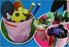 3 x haxnicks MAISON & JARDIN rangé Sacs de Rangement Rose POUBELLE pour jouets,