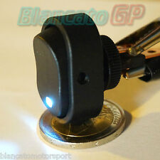 INTERRUTTORE A BILANCIERE con LED BIANCO 12V 30A DC  [ switch camper auto moto ]