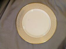"""Lenox WEST POINT Service Plate Charger 11.5"""" 24k Gold And Ivory"""