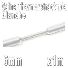 Gaine Thermo Rétractable 2:1 - Diam. 6 mm - Blanc - 1m