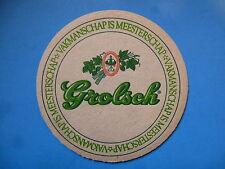 Vintage Beer Coaster ~ Grolsch Bierbrouwerij Ned Brewing - Netherlands Brewery