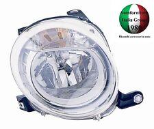 FARO FANALE PROIETTORE ANTERIORE SUPERIORE DESTRO ANT SUP DX FIAT 500 07> 2007>