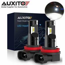 2x AUXITO H8 H9 H11 2600LM CSP LED Fog Lights Driving Bulbs 6000K Xenon White