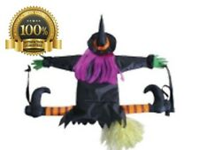 Betty Bash Crashing Witch Into Tree Halloween Outdoor Spooky Decorations