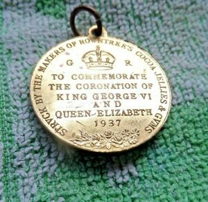 SOUVENIR MEDALION CORONATION OF KING GEORGE  VI  & QUEEN ELIZABETH