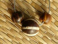 Perle Ancien Bois Fossile Myanmar Ancient Fossilized Palm PUMTEK Pyu Bead Burma