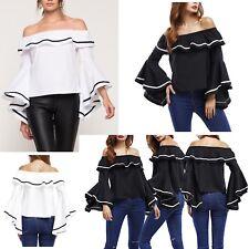 Maglia Manica Campana Spalle Scoperte Donna Woman Large Sleeve T-shirt 561050 P
