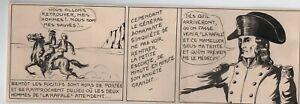 CHOTT. Dessin original pour Bertrand La Rafale. Années 40. BONAPARTE.