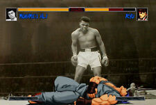 Incorniciato stampa -- Mohamed Ali KO's RYU (BOXE VS STREET FIGHTER PICTURE POSTER)