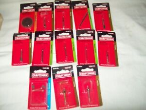 13 Craftsman Rotary Tool Accessory pieces all NIB routing cutting carving collet