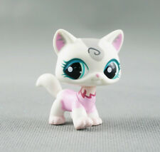 Littlest Pet Shop LPS #1699 Animals Felina Murchent White & Pink Kitty Cat