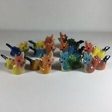 Lot of 10 Figurines Dollhouse Miniature Ceramic Naga Dragon Animal Fairy Garden