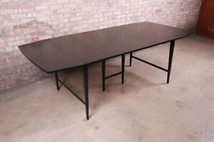 Paul McCobb Planner Group Mid-Century Modern Black Lacquered Dining Table