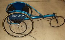 Invacare Top End Kneeling Racing Wheelchair Blue Turquoise Sun Rims Wet.18 lbs