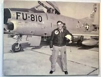 Pilot F86 In Front Of Airplane Fighter Jet Aircraft Leather Jacket Patch