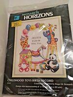 Reinardy Counted Cross Stitch Kit Childhood Toys Monarch Horizons Birth Record