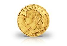 20 Francs Pièce en Or Suisse Vreneli Année Notre Choix