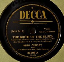Bing Crosby Birth of the Blues 78 NM Waiter and Porter Upstairs Maid Decca 25408