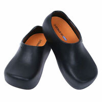 STICO Mens Chef Kitchen Slip Resistant Safety Rubber Occupational Shoes Black