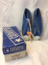 Vintage Converse All American Blue Shoes Mens 8.5 W/box NOS Deadstock 1-9805 New