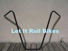 "BICYCLE BLACK APEHANGER HANDLEBAR 25"" BEACH CRUISER CHOPPER LOWRIDER BMX MTB"