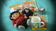 More details for beano bundle - mug & coaster, kids slippers, 2 annuals & game - all brand new.