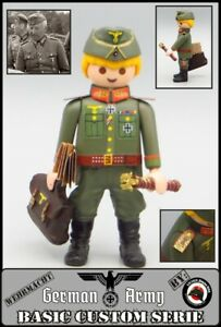 Playmobil Custom WW2 GENERAL Manstein Mariscal Ejercito Aleman SOLDADO Guerra mu