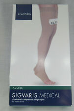 Sigvaris Thigh High 20-30 mmHg Compression Crispa LS Open Toe Men Women Long Lg