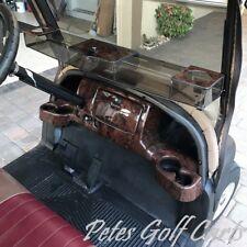Club Car Precedent Golf Cart Dash Cover in Wood Grain w/ Locking Glove Boxes