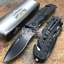 MASTER USA Skull Medallion Black Tactical Hunting Rescue Pocket Knife MU-A010BK